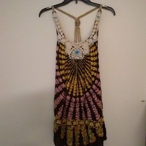 Free People tribal BOHO festival dress